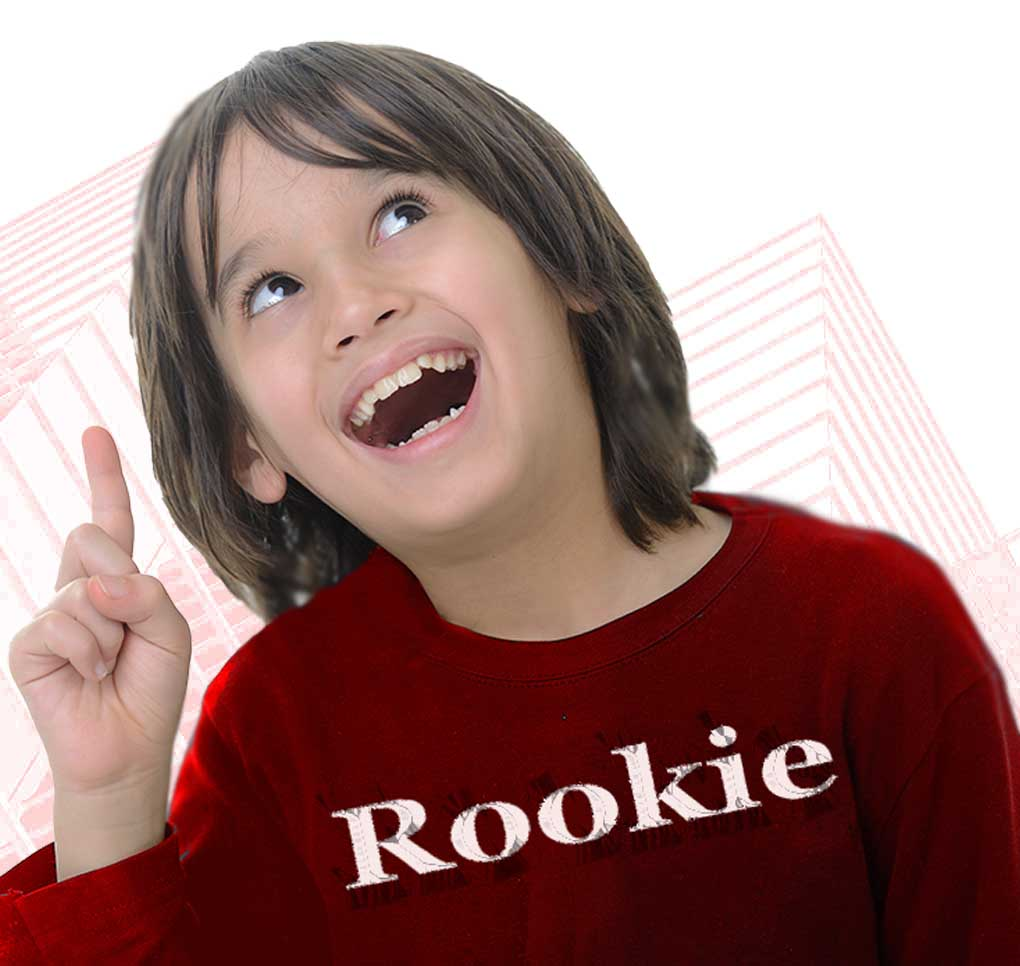 image of young boy with Rookie shirt