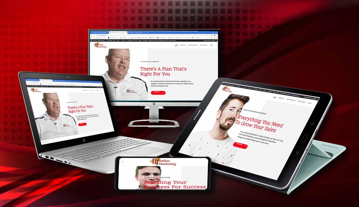 Image of websites on various media